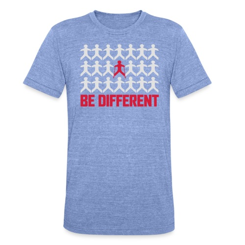 Nordic Walking - Be Different - Bella + Canvasin unisex Tri-Blend t-paita.