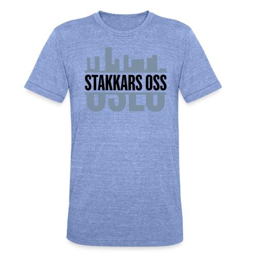 stakkars oss logo 2 ny - Unisex tri-blend T-skjorte fra Bella + Canvas