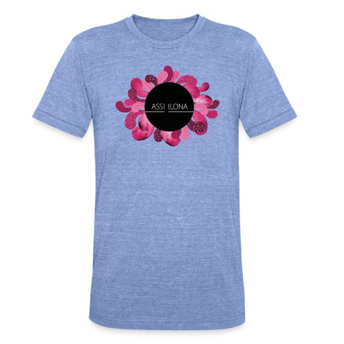 Naisten t-paita punaisella logolla - Bella + Canvasin unisex Tri-Blend t-paita.