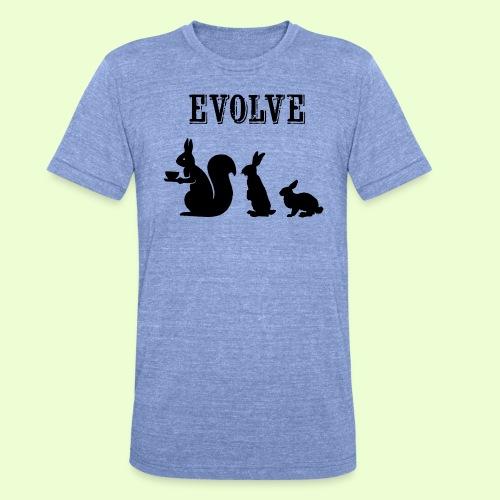 EvolveBunny - Unisex tri-blend T-shirt van Bella + Canvas