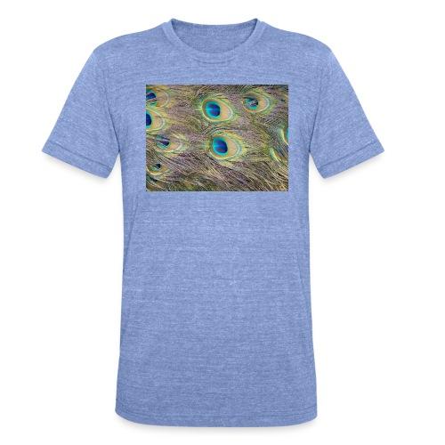 Peacock feathers - Bella + Canvasin unisex Tri-Blend t-paita.