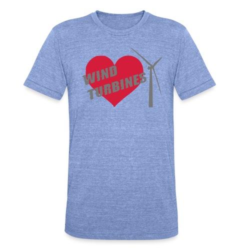 wind turbine grey - Unisex Tri-Blend T-Shirt by Bella & Canvas