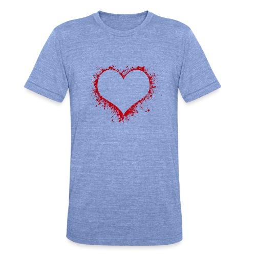 Herz/Heart - Unisex Tri-Blend T-Shirt von Bella + Canvas