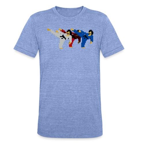 8 bit trip ninjas 2 - Unisex Tri-Blend T-Shirt by Bella & Canvas