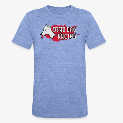 Dead dog racing logo - Unisex Tri-Blend T-Shirt by Bella & Canvas