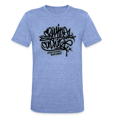Criminal Culture - Unisex Tri-Blend T-Shirt von Bella + Canvas