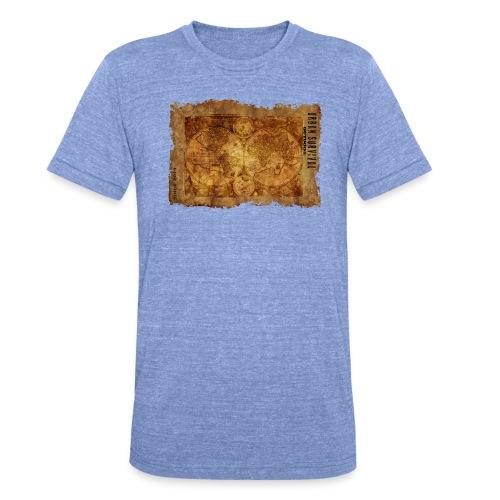map of the world 2241469 1920 - Unisex Tri-Blend T-Shirt von Bella + Canvas
