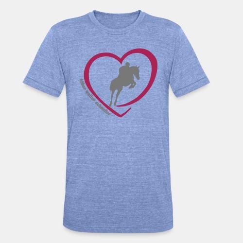 Springreiten höher weiter schneller - Unisex Tri-Blend T-Shirt von Bella + Canvas