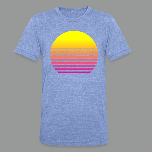80s Sun - Unisex Tri-Blend T-Shirt von Bella + Canvas