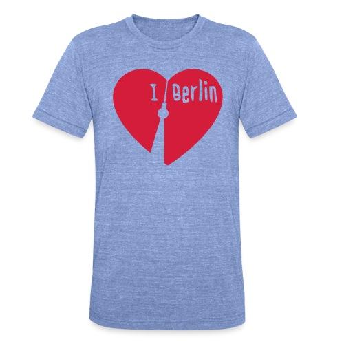 I love Berlin (1-farbig) - Unisex Tri-Blend T-Shirt von Bella + Canvas