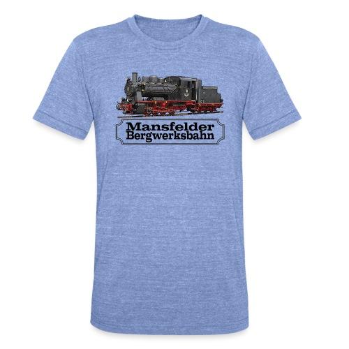 mansfelder bergwerksbahn dampflok 1 - Unisex Tri-Blend T-Shirt von Bella + Canvas