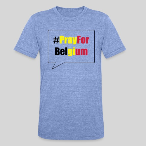 #PrayForBelgium - T-shirt chiné Bella + Canvas Unisexe