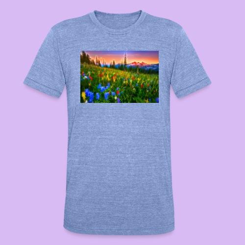 Bagliori in montagna - Maglietta unisex tri-blend di Bella + Canvas