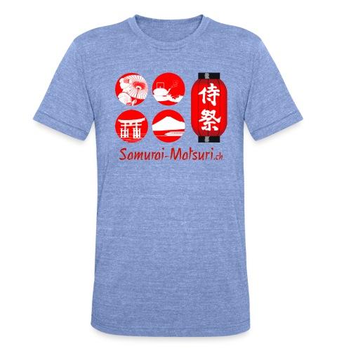 Samurai Matsuri Festival - Unisex Tri-Blend T-Shirt von Bella + Canvas