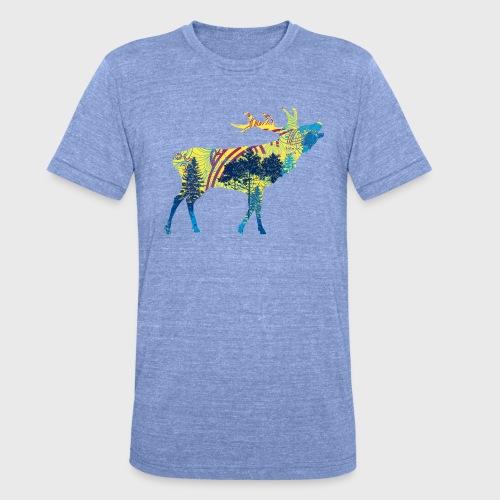 Cerf dans la forêt - T-shirt chiné Bella + Canvas Unisexe