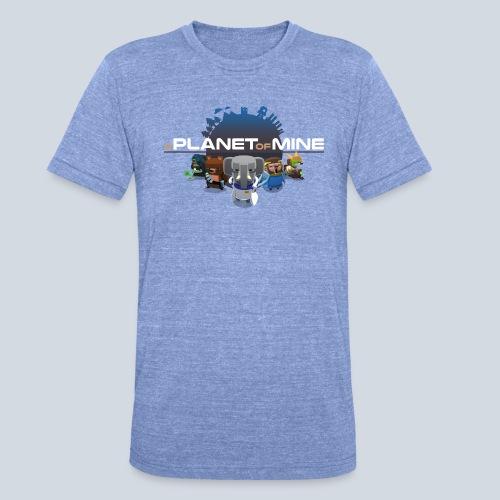 logo planetofmine dark HD - T-shirt chiné Bella + Canvas Unisexe