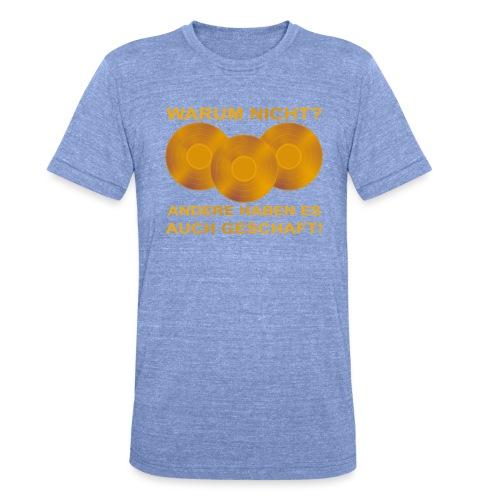 Goldene Schallplatte - Unisex Tri-Blend T-Shirt von Bella + Canvas