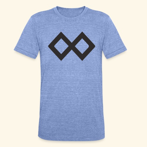 TenX Logo - Unisex Tri-Blend T-Shirt von Bella + Canvas