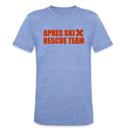 apres-ski rescue team - Unisex tri-blend T-shirt van Bella + Canvas