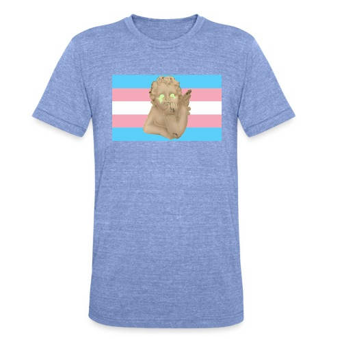 Transgender flag - Unisex tri-blend T-skjorte fra Bella + Canvas