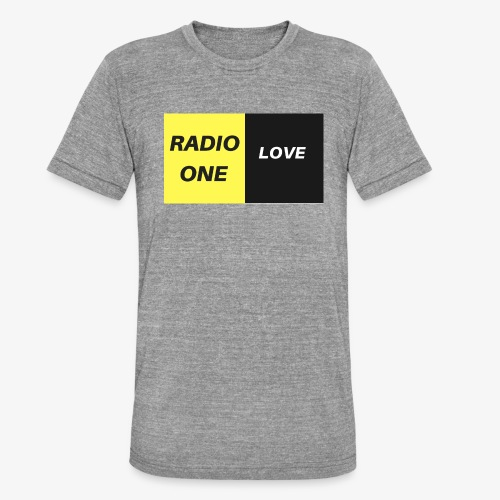 RADIO ONE LOVE - T-shirt chiné Bella + Canvas Unisexe
