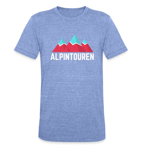 Alpintouren Logo - Unisex Tri-Blend T-Shirt von Bella + Canvas