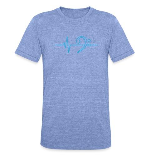 LowHeartBeat cyan - Unisex Tri-Blend T-Shirt von Bella + Canvas