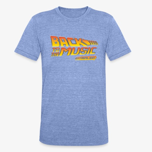 Back to the music Vinyl Edit - T-shirt chiné Bella + Canvas Unisexe