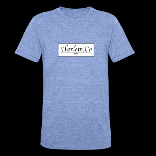 Harlem Co logo White and Black - Unisex Tri-Blend T-Shirt by Bella & Canvas