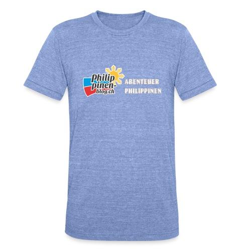 Philippinen-Blog Logo deutsch orange/weiss - Unisex Tri-Blend T-Shirt von Bella + Canvas