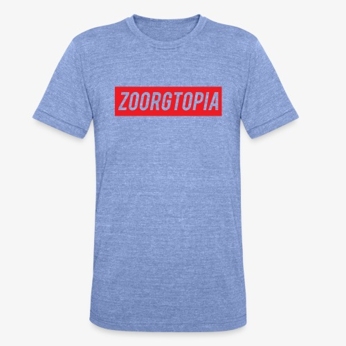 Zoorg Red Background - Unisex Tri-Blend T-Shirt by Bella & Canvas