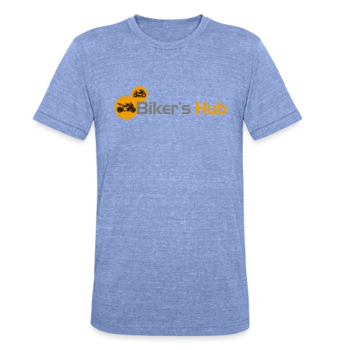 Biker's Hub Small Logo - Unisex Tri-Blend T-Shirt by Bella & Canvas
