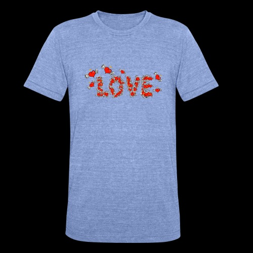 Flying Hearts LOVE - Unisex Tri-Blend T-Shirt by Bella & Canvas