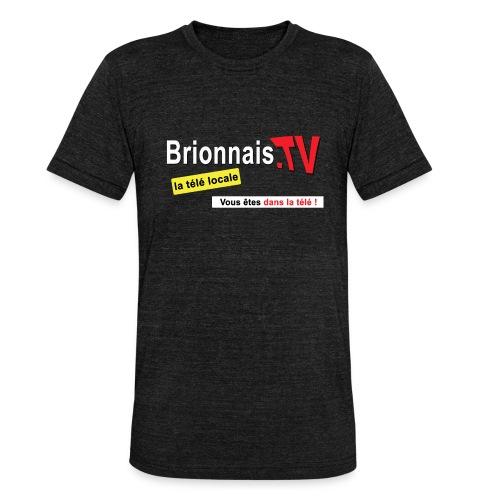 BTV logo shirt dos - T-shirt chiné Bella + Canvas Unisexe