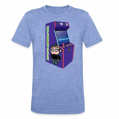 Game Booth Arcade Logo - Unisex Tri-Blend T-Shirt by Bella & Canvas