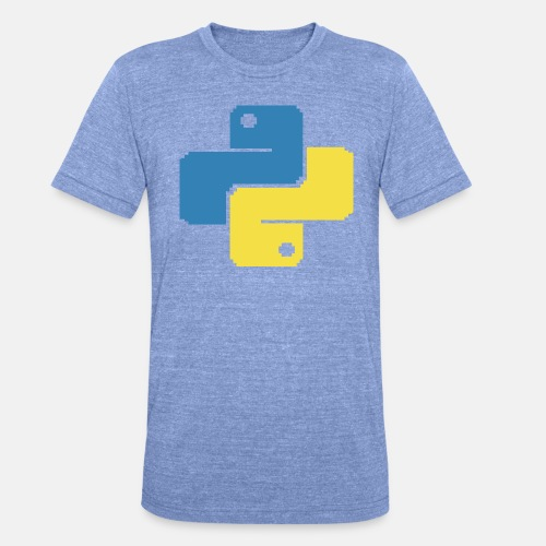 Python Pixelart - Unisex Tri-Blend T-Shirt von Bella + Canvas