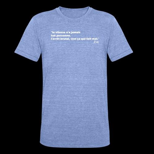 vitesse (blanc) - T-shirt chiné Bella + Canvas Unisexe