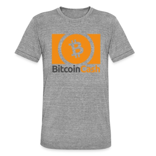 Bitcoin Cash - Bella + Canvasin unisex Tri-Blend t-paita.