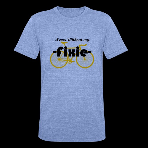 Nerver Without my Fixie - T-shirt chiné Bella + Canvas Unisexe