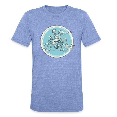To the Beach - Backround - Unisex Tri-Blend T-Shirt von Bella + Canvas