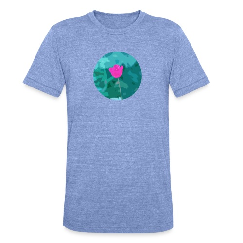 Flower power - Unisex tri-blend T-shirt van Bella + Canvas