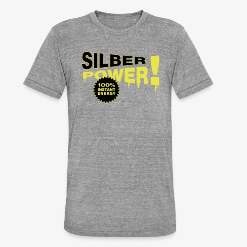 SilberPower! - Unisex tri-blend T-shirt fra Bella + Canvas