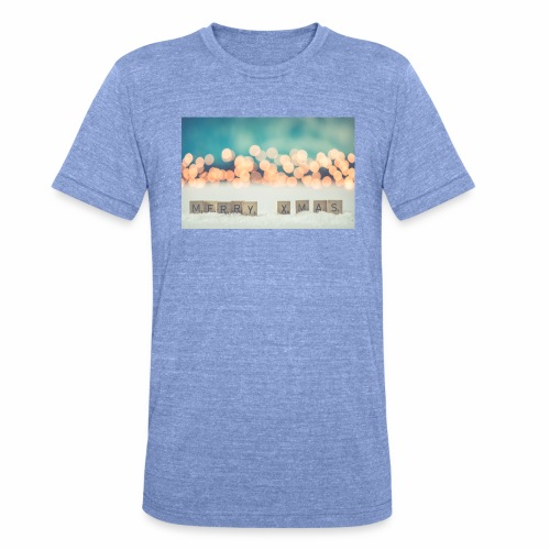 Merry Christmas - Unisex tri-blend T-shirt fra Bella + Canvas