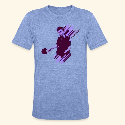 Compassion to win the table tennis championship - Unisex Tri-Blend T-Shirt von Bella + Canvas