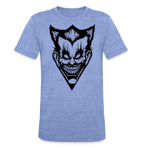 Horror Face - Unisex Tri-Blend T-Shirt von Bella + Canvas