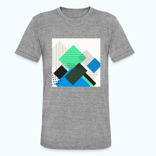 Abstract rectangles pastel - Unisex Tri-Blend T-Shirt by Bella & Canvas