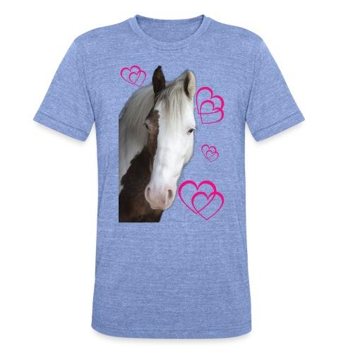 Hästälskare (Daisy) - Triblend-T-shirt unisex från Bella + Canvas
