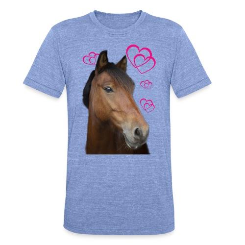 Hästälskare (Musse) - Triblend-T-shirt unisex från Bella + Canvas