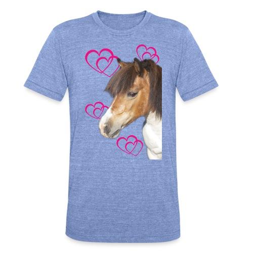 Hästälskare (Bella) - Triblend-T-shirt unisex från Bella + Canvas