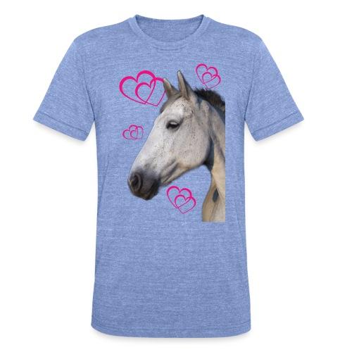 Hästälskare (maya) - Triblend-T-shirt unisex från Bella + Canvas